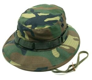 MILITARY STYLE SUN HOT WEATHER TYPE II hat camouflage boonie-sz 7 1/4  L