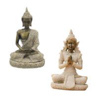 2pcs Deko BUDDHA Figur Statue Skulptur Asien Garten Thailand Feng Shui