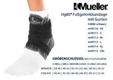 MUELLER Hg80 Fußgelenkbandage mit Gurten 1 Stck XL