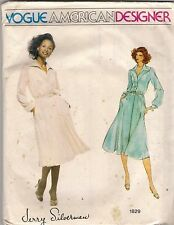 Vogue Sewing Pattern 1829, Jerry Silverman, Vintage Dress, Size 10, Uncut