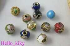 600Pcs Mixed colour cloisonne enamel round beads 6mm M539