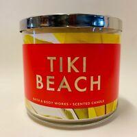 1 Bath & Body Works Tiki Beach 3 Wick Large Scented Candle 14.5 oz