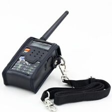 Walkie Talkie Leather Soft Case Cover For BAOFENG UV 5R Portable Ham Radio A3K8