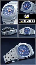 Luxury Chronograph- Cat Unisex Watch Exclusive Azure Blue 10 Bar Waterproof