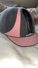 harry hall pink and grey horse riding hat