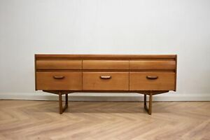 Mid Century Teak Compact Sideboard or Dresser William Lawrence