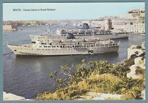 Epirotiki mv JASON & Siosa Lines mv IRPINIA at Grand Harbour, Malta