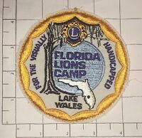 Florida Lions Camp Patch - vintage - Lake Wales - For the Visually Handicapped