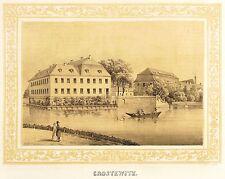 MARKKLEEBERG - RITTERGUT CROSTEWITZ - Poenicke - Tonlithografie 1854