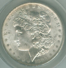 1883-o  MORGAN SILVER DOLLAR, ANACS CERTIFIED MS62 COIN, NICE DETAILS & LUSTER