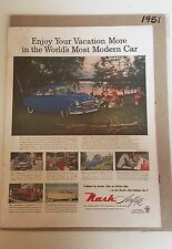 Nash Airflyte Car Advertisement & Cover of Life Magazine w/ Janet Leigh - 1951