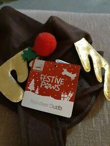 Dog Christmas Reindeer Outfit -  Size Medium