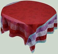 La Maisonnette 'Crestet' Cotton Tablecloth TEFLON Coated 65 x  65, Retails $79!!