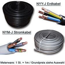 NYY-J Erdkabel oder NYM-J Installationsleitung Meterware 3x1,5 5x2,5 5x4 5x6 usw
