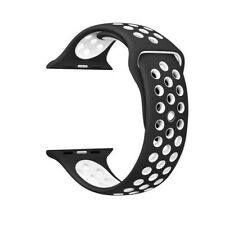 Apple Watch Pulsera Correa Sport 42mm silicona serie 1  2 3 4 Negro/Blanco