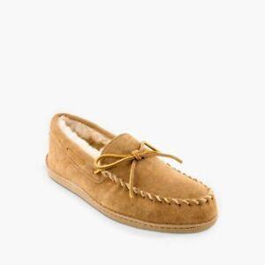Minnetonka Men's Sheepskin Hardsole Moccasin $80 Size 15 NWOB
