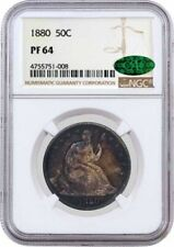 1880 50C Proof Seated Liberty Half Dollar Silver NGC PF64 CAC Toned