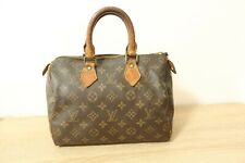 Authentic Louis Vuitton Speedy 25 Hand Bag Monogram Brown #6619