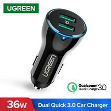 Ugreen USB Car Charger Dual Quick Charge 3.0 Fast Car Charger for Samsung Huawei