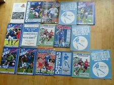 Chesterfield football club home match programmes x 16