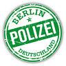 "Berlin Police Germany Grunge Stamp Car Bumper Sticker Decal 5"" x 5"""