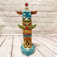 Ezra Brooks Vintage 1972 Tiki Bar Totem Pole Empty Decanter Heritage China