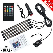 Justech 12V LED Strip Lights Car Interior Footwell Dimmable Ambient Lighting RGB