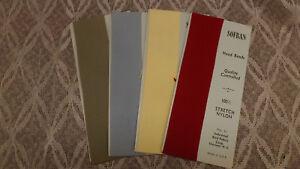 4 Vtg NOS SOFBAN Nylon Headband Hair Ties Red,Blue,Yellow,Green 1960's  Lot