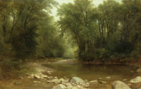 Nice oil painting Asher Brown Durand - Catskill Stream free shipping landscape