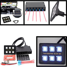 12V/24V 6 Gang LED Car Caravan Marine Boat Slim Switch Panel Touch Screen