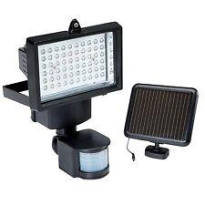 x2  60 LED PIR Motion Sensor Security Floodlight Garden Outdoor Solar Powered