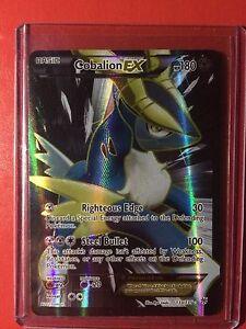 Pokemon card -Full Art Cobalion EX -Ed Holo 1st Plasma Storm B&W Edition 133/135