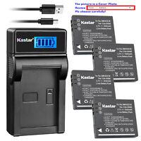 Kastar Battery LCD USB Charger for Panasonic Lumix DMC-FS5EG-S DMC-FS5GK BCE10E