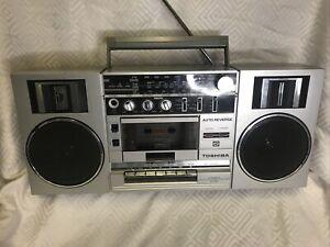 Toshiba RT-150S Vintage Radio Cassette Player Boombox Stereo Radio 80's READ