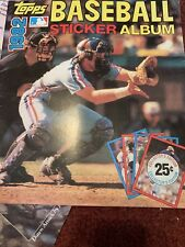 1982 TOPPS MLB BASEBALL STICKER ALBUM BRAND NEW UNUSED