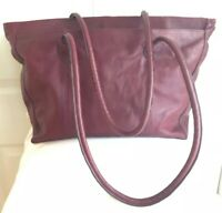 HANDMADE WOMEN'S TOTE SHOPPERS BAG RED PEBBLED LEATHER HANDBAG
