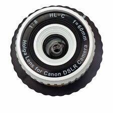 AU - Holga HL-C 60mm f/8 Toy Lens for Canon Digital DSLR Camera White