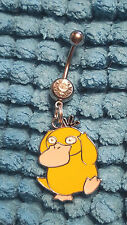 psyduck Pokemon  Belly Ring Navel Ring 14G Surgical Steel Dangle