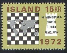 Iceland 1972 Chess/Piece/World Map/Sport/Chessmen/Pieces 1v (n23544)