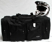 XL Motorcycle atv gear bag motocross off road dirt bike mx snowmobile black