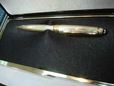 MONTBLANC SOLITAIRE 165S STERLING SILVER BARLEY & GOLD 0.7 mm PENCIL NEW IN  BOX