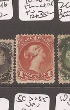 Canada Large Queen 1c SG 47 thin at right FU (3axu)
