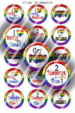 Pre-Cut Bottle Cap Images Gay Pride Collage Sheet R332 - 1 Inch Circles