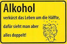 """ALBATROS Ortsschild wie Postkarte (251) - Alkohol """"Alkohol verkürzt das ..."""""""
