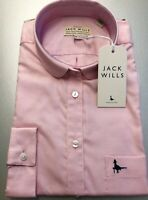 NWT Women's Size 8 Oxford Pale Pink Cotton Classic Fit Shirt By Jack Wills