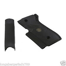 PACHMAYR COMBAT STYLE GRIPS FOR BERETTA 92 SB & F BLACK RUBBER AUTOMATIC PISTOL