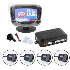 4 Parking Sensors Car Rear Reverse Backup Front  LCD Display Radar System New