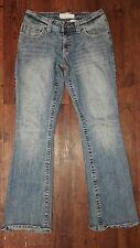 Maurices Morgan Boot Ladies Distressed Cotton/Spandex Jeans Sz 5/6 30X32X8.5