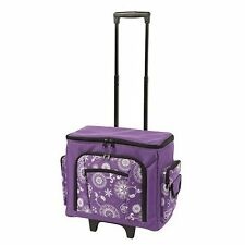 Printed Sewing Machine Trolley Bag, Purple Floral