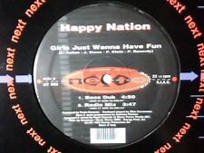 "HAPPY NATION Girls just wanna have fun 12"" ITALY 5 TRACKS RARISSIMO VERY RARE!!!"